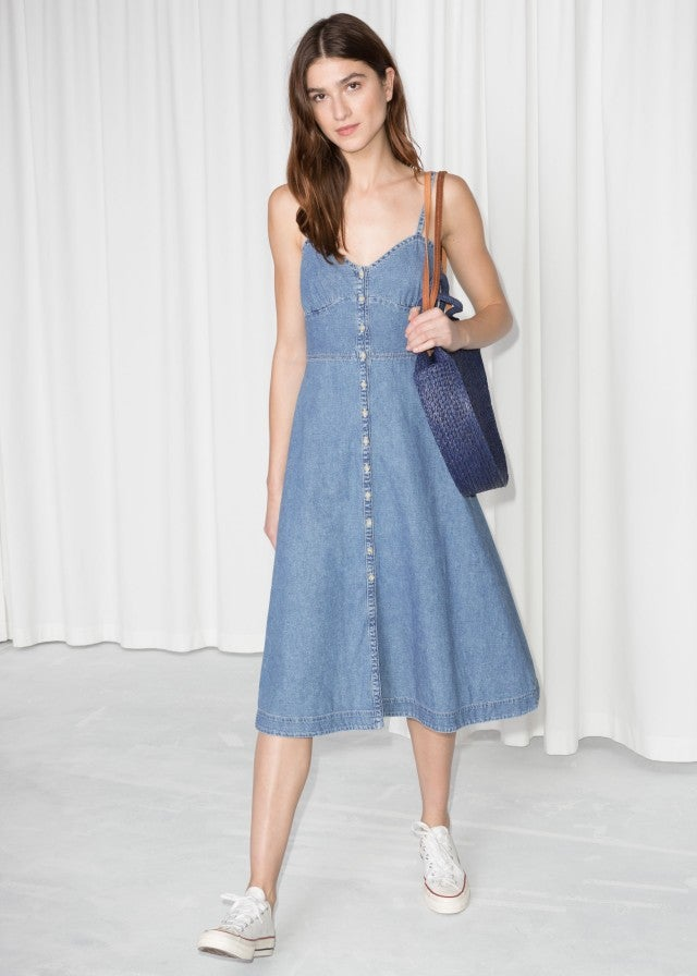 & Other Stories buttoned denim dress