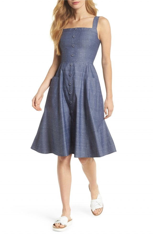 Gal Meets Glam chambray dress