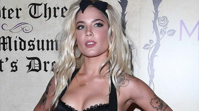 Halsey attends Playboy's Midsummer Night's Dream in Las Vegas on July 29